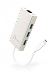 JCH471 USB Type-C Gigabit イーサネット+USB3.0×3ポートHUB