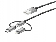 JMLC10 Micro-USB Cable with Lightning & Type-C Adapter (3-in-1)