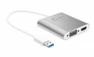 JUA360 USB 3.0 to Dual VGA HDMI Multi-Monitor Adapter