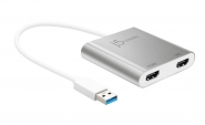 JUA365 USB 3.0 to Dual HDMI Multi-Monitor Adapter