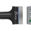 JUPV41 4-Port USB QC3.0 & Type-C Car Charger